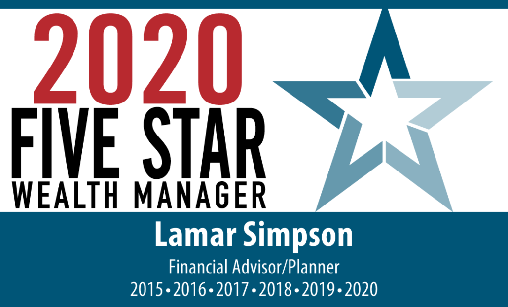 2020 Five Star Wealth Manager Award for Simpson Wealth Planning
